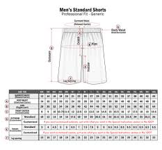 Type Size Chart Standard Sizing Chart Professional Fit Willix Sports