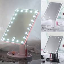 Led Light Up Mirror Details About Touch Screen Makeup Mirror Tabletop Cosmetic Vanity Light Up Mirror 22led Wow