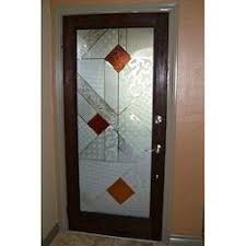 Glass door designs Single Designer Wooden Glass Doors Indiamart Designer Wooden Glass Doors At Rs 860 square Feet Sahpura Village