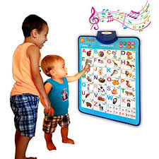 Just Smarty Electronic Interactive Alphabet Wall Chart Talking Abc 123s Music Poster Best Educational Toy For Toddler Kids Fun Learning At