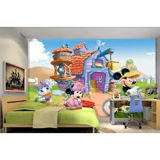 Tranh dán tường 3D chuột Mickey và vịt Donald 1 TB67 - 3D Thương hiệu OEM