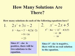 how many solutions are there how many solutions do each of the following equations have