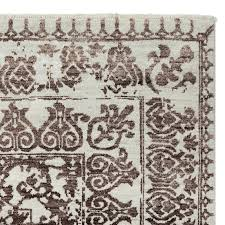 penelope hand knotted rug swatch coffee