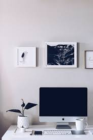 home office alternative decorating rectangle. HelloLovelyLiving.com | Minimal Home Office + Minted Custom Art Prints Alternative Decorating Rectangle A