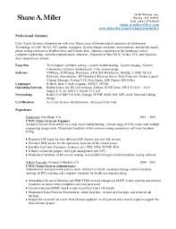 Outstanding Linux Administrator Resume 1 Year Experience 28 With Additional  Easy Resume With Linux Administrator Resume