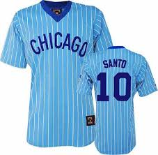 Mlb 10 Jersey Cubs Authentic Chicago Majestic Majestic5580123 Men's Santo Ron Throwback Blue Cooperstown fcbbaceafbeaabaa COHEN'S Corner Sports