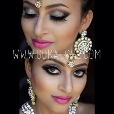 silver grey and black eye makeup indian stani wedding bridal