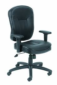 com boss leather adjule task chair without arms black everything else