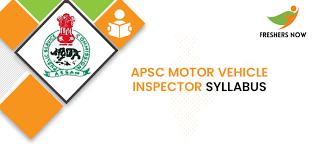 apsc motor vehicle inspector syllabus
