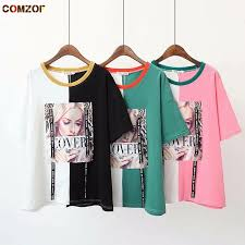 patchwork women plus size t shirt short sleeve beading ribbon tops harajuku loose tshirt feminina womens fashion clothing xl 4xl cartoon t shirts urban t