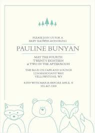 Create Gender Reveal Invitations Free Woodland Outline Baby Shower