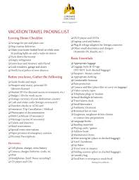 13 Packing List Examples Pdf Word Examples