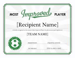 soccer awards templates most improved player certificate templates office com awards