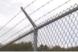 commercial chain link fence parts. Chain Link Fence Barbed Wire Top Commercial Parts