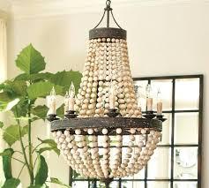 wood bead chandelier pottery barns wood bead chandelier wood bead chandelier diy