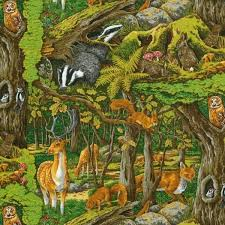 Best 25+ Quilting fabric uk ideas on Pinterest | Folded fabric ... & Fat Quarter Friends Of The Forest Printed Cotton Quilting Fabric UK Wildlife Adamdwight.com