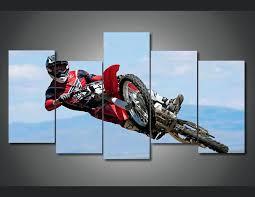 motorcycle racing 5 piece wall art ash decor canvas indian