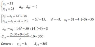 Урок по алгебре Арифметическая и геометрическая прогрессии класс  Найти число членой арифметической