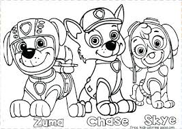 Paw Patrol Coloring Sheets Everest Pages Skye And Badge Mesmerizing