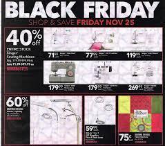 Black Friday 2016 Sewing Machine Deals