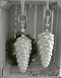 Details Zu Fensterdeko Weihnachten Hänger Xxl Zapfen Perle Strassbeat Silber 28x12 Cm
