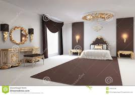 Modern Baroque Bedroom Modern Furniture In Baroque Design Royalty Free Stock Photo