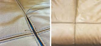 sofa repairs with leather stitching