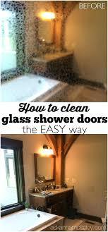 how to clean bathroom shower doors