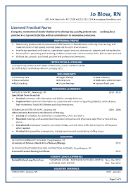 Gallery Of New Grad Nursing Resume Templates