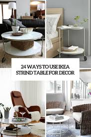 24 Ways To Use IKEA Strind Coffee Table For Decor - DigsDigs