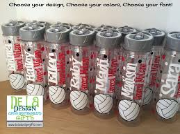 personalized sports theme tumbler or sport bottle name soccer or