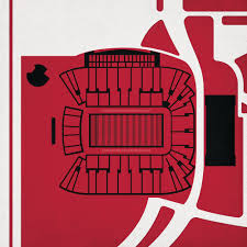 Rice Eccles Stadium Detailed Seating Chart Rice Eccles Stadium Map Art