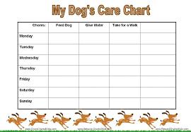Reward Charts For Pet Care