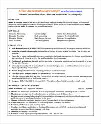 Accountant Resume Sample Adorable 60 Accountant Resume Templates In PDF Free Premium Templates