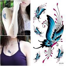 Dětské Tetování Tetovací Obtisky Motýli