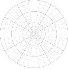 Polar Graph Paper Divisions Each 10 Degrees Graph Paper