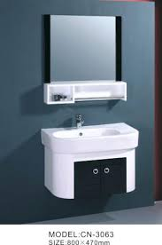 Art Deco Bathroom Mirror With Light Nouveau Vanity Cabinet