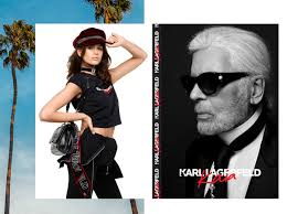 karl lagerfeld has partnered with model kaia gerber to introduce an exclusive collection of ready to wear and accessories