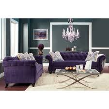 Two Piece Living Room Set Furniture Of America Agatha 2 Piece Tufted Sofa And Loveseat Set