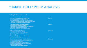 "ap weeks and monday and tuesday ppt  29 ""barbie doll"" poem"