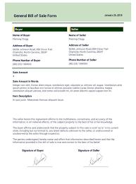 nc bill of sale form general bill of sale template pdf templates jotform