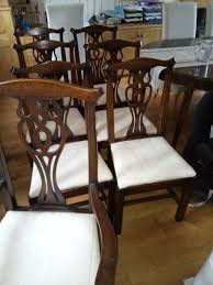 dining chairs solid oak set of 7 in excellent condition