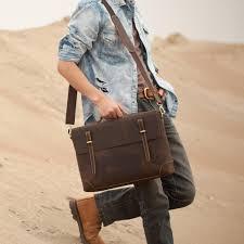 men s handmade vintage leather briefcase leather messenger bag 13 15 macbook 13