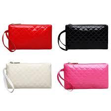 <b>HOT</b> Women Fashion Pure <b>Zipper</b> Coin Phone Purses Plaid PU ...