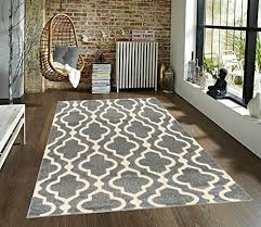 medallion moroccan trellis grey cream area rug azul homegoods collection