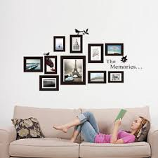 black picture frames wall. Image Is Loading 10x-Picture-Photo-Frame-Wall-Mural-Black-Frames- Black Picture Frames Wall