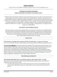 Entry Level Engineering Resume Simple Resume Format