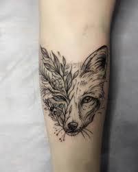 Tattoo Blacktattoo Ink Pinterest татуировки лисы