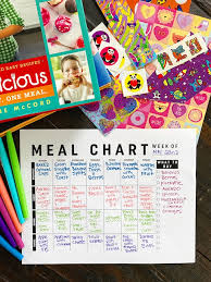 meal planning chart weekly meal plan printable two peas their pod