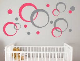 Peel And Stick Wall Decor Geometric Wall Decal Bubbles Circles Retro Wall Decor Peel And